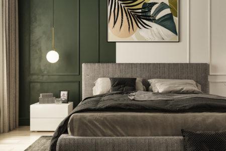 Как с помощью дизайна выделить место для спальни в однокомнатной квартире.